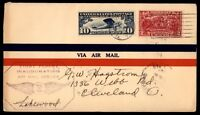 MAYFAIRSTAMPS US BUFFALO NY DEC 17 1927 FIRST FLIGHT AIR MAIL COVER W/ CLEVELAND