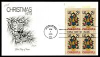 MAYFAIRSTAMPS US WA DC NOV 7 1973 CHRISTMAS GINGER COOKIE ON A TREE FDC SC 1508