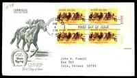 MAYFAIRSTAMPS US KY MAY 4 1974 SALUTING HORSE RACING OFFICIAL FDC SC 1528 PLATE