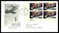 MAYFAIRSTAMPS US TX MAY 14 1974 COMMEMORATING SKYLAB PROJECT FDC SC 1529 PLATE N