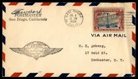 MAYFAIRSTAMPS US SAN DIEGO CA C11 FIRST FLIGHT COVER SIGNED BY POSTMASTER