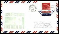 MAYFAIRSTAMPS US LOS ANGELES CA AM 4 1967 FIRST FLIGHT COVER TO TORONTO CANADA