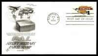 MAYFAIRSTAMPS US 1968 SEATTLE WASHINGTON AIRLIFT MILITARY PARCEL STAMP CACHET FI