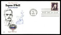 MAYFAIRSTAMPS US EUGENE O'NEILL AMERICAN PLAYWRIGHT CACHET RF LAABS FIRST DAY CO