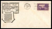 MAYFAIRSTAMPS US 1937 CHARLOTTE AMALIE VI CACHET VIRGIN ISLANDS FDC FIRST DAY CO