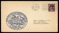 MAYFAIRSTAMPS US FEDERAL STATION NEW YORK EVACUATION BAY CACHET EVENT COVER 1932