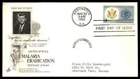 MAYFAIRSTAMPS US WASHINGTON DC 1962 MALARIA ERADICATION CACHET FIRST DAY COVER