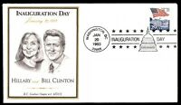 MAYFAIRSTAMPS US 1993 INAUGURATION DAY HILLARY AND BILL CLINTON CACHET COVER