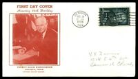 MAYFAIRSTAMPS US 1956 66TH BIRTHDAY DWIGHT EISENHOWER CACHET ON FIRST DAY COVER