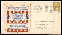 MAYFAIRSTAMPS US 1932 DEDICATION OF FORT NECESSITY CACHET 8 CENT COVER