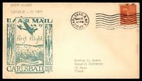 MAYFAIRSTAMPS US CARLSBAD NM MAY 11 1940 FIRST FLIGHT AM 29 AIR MAIL COVER TO EL
