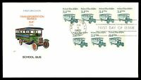 MAYFAIRSTAMPS US 1985 FARNUM SCHOOL BUS COIL 3.4C FDC