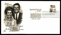 MAYFAIRSTAMPS RONALD REAGAN AND FIRST LADY 1985 INAUGURATION  COVER