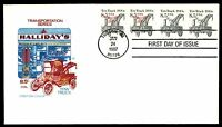 MAYFAIRSTAMPS US 1987 FARNUM TOW TRUCK COIL PAIRS COMBINATION FDC