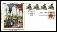 MAYFAIRSTAMPS US FDC 1982 LOCOMOTIVE 1870S COIL COLORANO SILK COMBINATION UNADDR