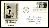 MAYFAIRSTAMPS US FDC 1966 MARY CASSATT ARTIST FLEETWOOD 5 SEALED FIRST DAY COVER