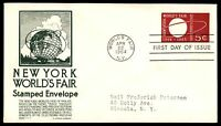 MAYFAIRSTAMPS US FDC 1964 WORLDS FAIR EMBOSSED C STEPHEN ANDERSON 5 SEALED FIRST