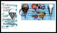 MAYFAIRSTAMPS US FDC 1983 DOUBLE EAGLE II BALLOON BLOCK TAMI 20 UNADDRESSED UNSE