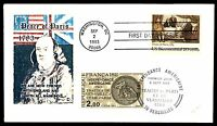MAYFAIRSTAMPS US FDC 1983 PEACE OF PARIS MIXED FRANKING  COMBINATION UNADDRESSED
