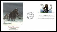 MAYFAIRSTAMPS US FDC 1996 WOOLLY MAMMOTH BALKE 32 UNADDRESSED UNSEALED FIRST DAY
