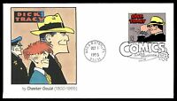 MAYFAIRSTAMPS US FDC 1995 DICK TRACY CLASSIC COMICS FLEETWOOD 32 UNADDRESSED UNS
