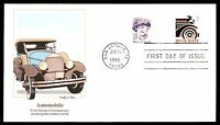 MAYFAIRSTAMPS US FDC 1996 AUTOMOBILE BULK RATE FLEETWOOD COMBINATION UNADDRESSED