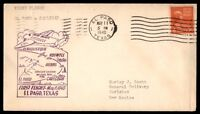 MAYFAIRSTAMPS US EL PASO TX MAY 11 1940 FIRST FLIGHT COVER TO CARLSBAD NM W/ BAC
