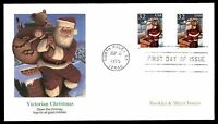 MAYFAIRSTAMPS US FDC 1995 VICTORIAN CHRISTMAS SANTA DOWN THE CHIMNEY BOOKLET & S
