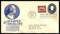 MAYFAIRSTAMPS US FDC 1960 WASHINGTON EMBOSSED ISSUE C STEPHEN ANDERSON 2.5 SEALE
