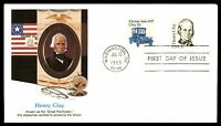 MAYFAIRSTAMPS US FDC 1983 HENRY CLAY FLEETWOOD COMBINATION UNADDRESSED UNSEALED