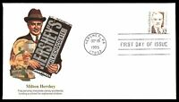 MAYFAIRSTAMPS US FDC 1995 MILTON HERSHEY FLEETWOOD 32 UNADDRESSED UNSEALED FIRST