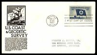 MAYFAIRSTAMPS US FDC 1957 US COAST & GEODETIC SURVEY C STEPHEN ANDERSON 3 UNSEAL