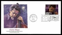 MAYFAIRSTAMPS US FDC 1995 CHARLES MINGUS SOTTUNG 32 UNADDRESSED UNSEALED FIRST D