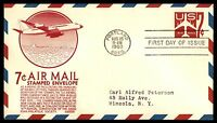 MAYFAIRSTAMPS US FDC 1960 US AIR MAIL EMBOSSED ISSUE C STEPHEN ANDERSON 7 SEALED