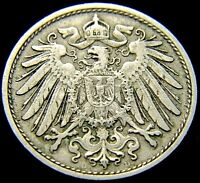 GERMANY 1906   D 10 PFENNIG GERMAN EMPIRE COIN RL1633  111 YEARS OLD