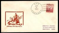 MAYFAIRSTAMPS USS CONECUH 1953 JUNE 9 NAVAL COVER UNITED STATES NAVY