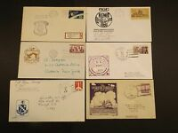 SIX US NAVY  NAVAL RELATED EVENT POSTAL COVERS LOT 1
