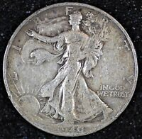 1940 S WALKING LIBERTY HALF DOLLAR INV. W400