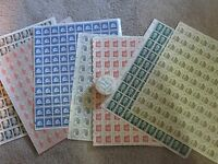 US REGULAR DEFINITIVE SHEETS $42.00 FACE MINT/NH POSTAGE AND ONE ROLL.