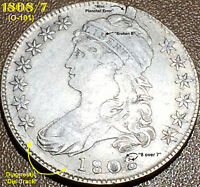 1808/7 CAPPED BUST HALF DOLLAR   OVERTON 101 OVERDATE
