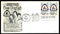 MAYFAIRSTAMPS NY NOV 1960 GOLDEN JUBILEE CAMP FIRE GIRLS FLEETWOOD CACHET ON FDC