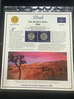 2007 UTAH S STATE QUARTER P&D MINT POSTAL COMMEMORATIVE SOCIETY