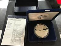 1995 PROOF SILVER EAGLE COIN   W/ BOX & PAPERS   BEAUTIFUL