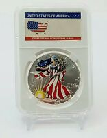 1999 PAINTED AMERICAN SILVER EAGLE $1 .999 FINE SILVER COIN 1 TROY OUNCE