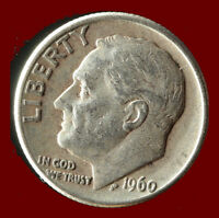 1960 D ROOSEVELT 90 SILVER DIME SHIPS FREE. BUY 5 FOR $2 OFF