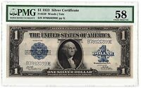 1923 $1 FR.239 SILVER CERTIFICATE   WOODS/TATE  COMBO   PMG 58   BEST OFFER