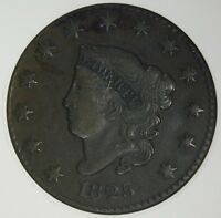 1825 LARGE CENT ANACS VF30