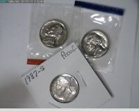 1987 P D S 5C JEFFERSON NICKELS UNC IN MINT CELLO AND PROOF