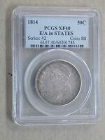 1814 50C BUST HALF DOLLAR E/A IN STATES PCGS XF40