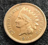 1907 INDIAN HEAD PENNY   NICE COIN
